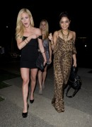 Vanessa Hudgens & Brittany Snow at Boa Steakhouse in West Hollywood, March 9, 2011