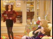 Fran Drescher---legs--dark Nylons--sexy--1994--Retro--The Nanny